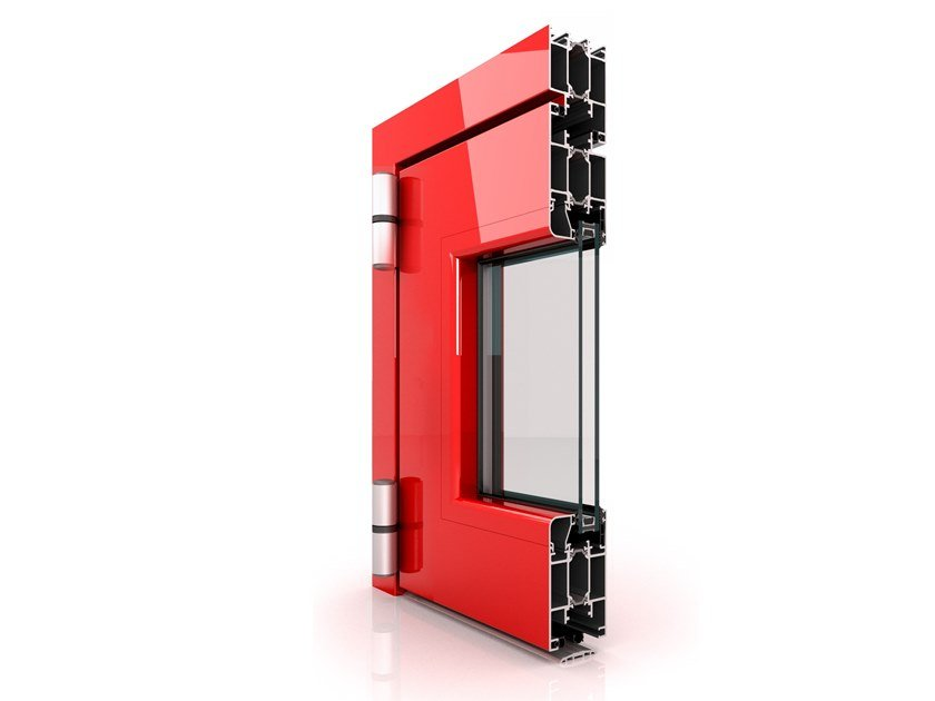 Profilati per porte a battente a taglio termico in alluminio DX 600 by Twin Systems