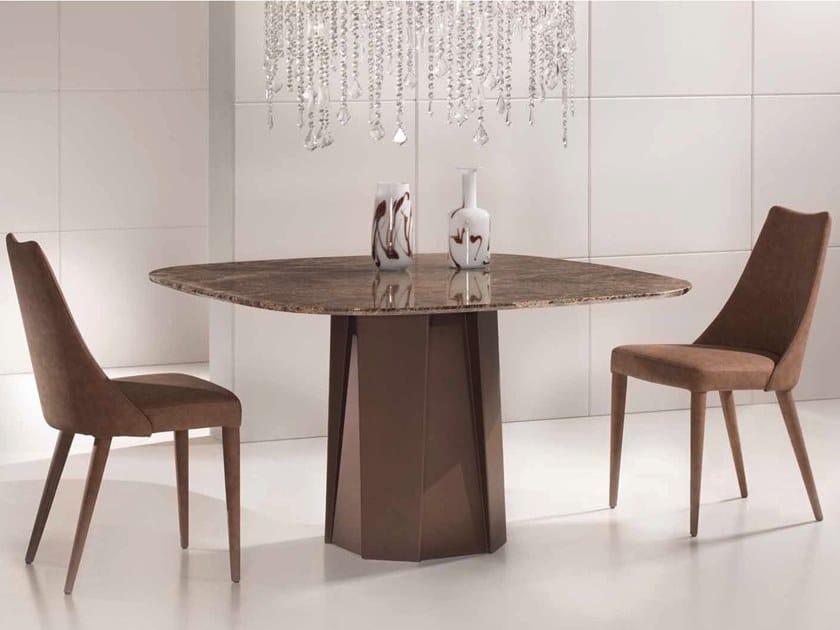 Dark Emperador marble table DYBLA by International Marmi