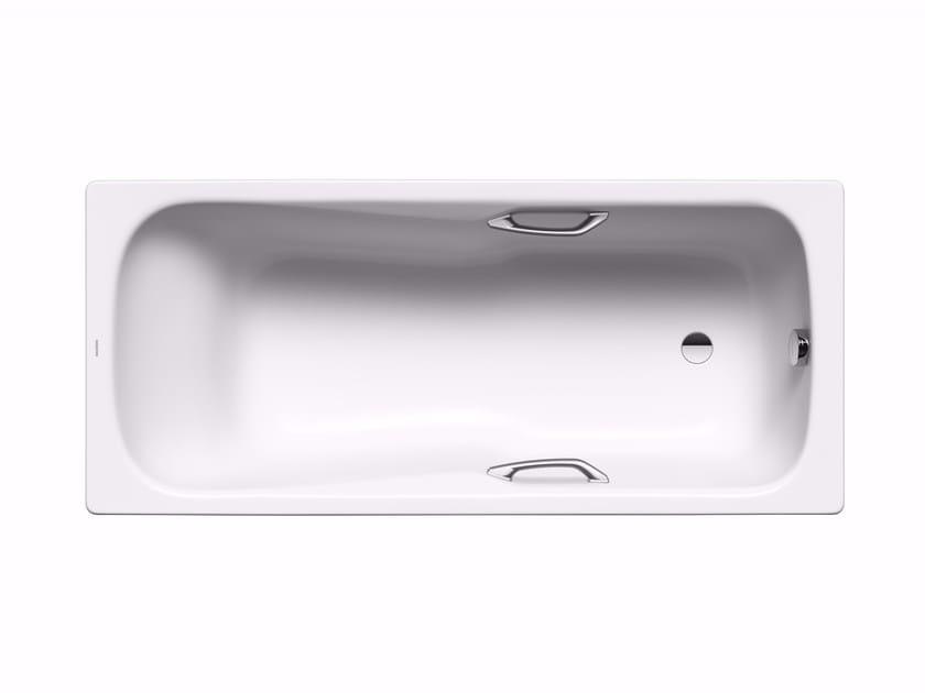 Rectangular built-in enamelled steel bathtub DYNA SET STAR by Kaldewei Italia