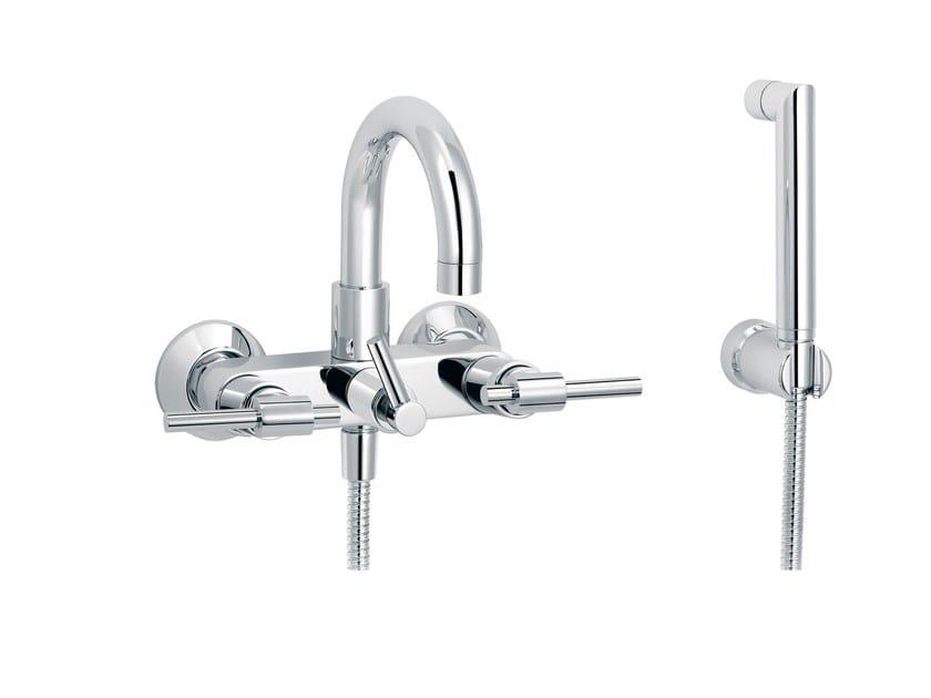 Wall-mounted bathtub mixer DYNAMIC | Bathtub mixer with hand shower by rvb