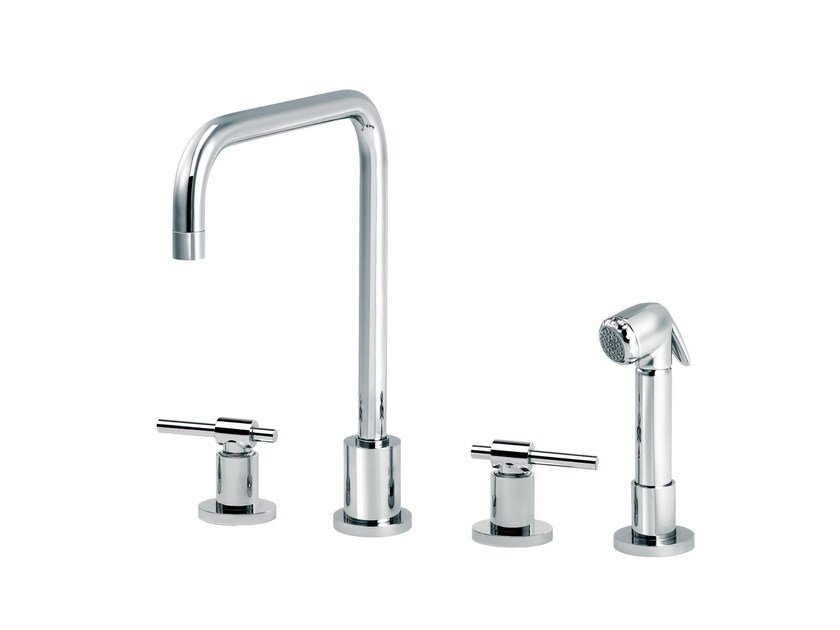 Countertop kitchen mixer tap with pull out spray DYNAMIC | Countertop kitchen mixer tap by rvb