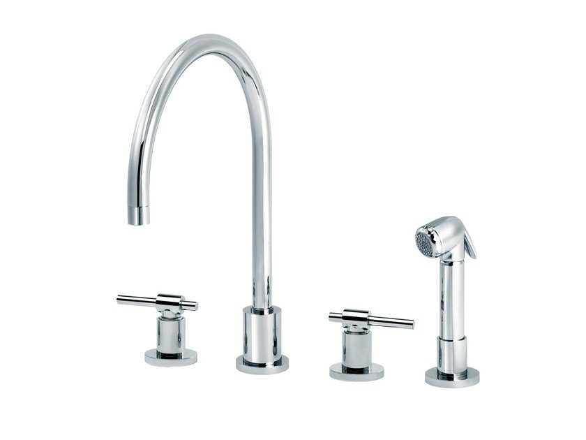 Countertop kitchen mixer tap with pull out spray DYNAMIC | Kitchen mixer tap with pull out spray by rvb