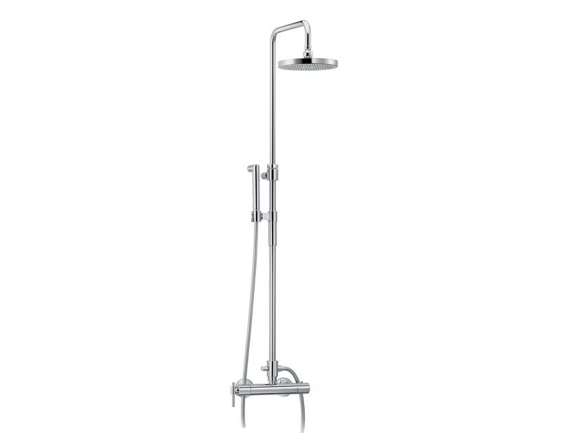 Wall-mounted thermostatic shower panel with hand shower DYNAMIC | Thermostatic shower panel by rvb