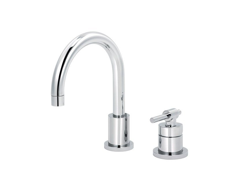 2 hole countertop single handle washbasin mixer DYNAMIC | Single handle washbasin mixer by rvb