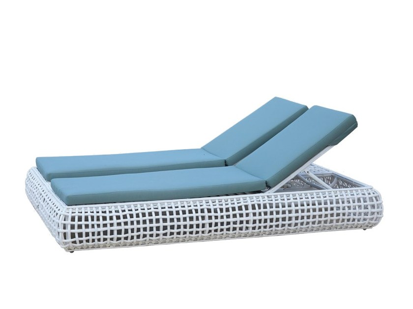 Lettino da giardino matrimoniale reclinabile DYNASTY 84818 by SKYLINE design