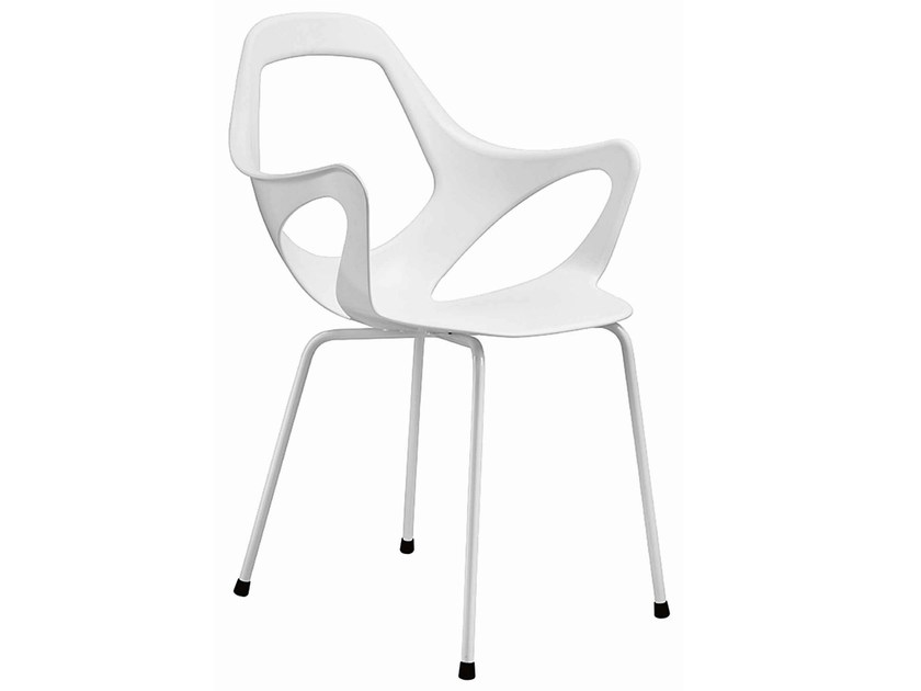 Technopolymer restaurant chair Dafne 154 by Metalmobil