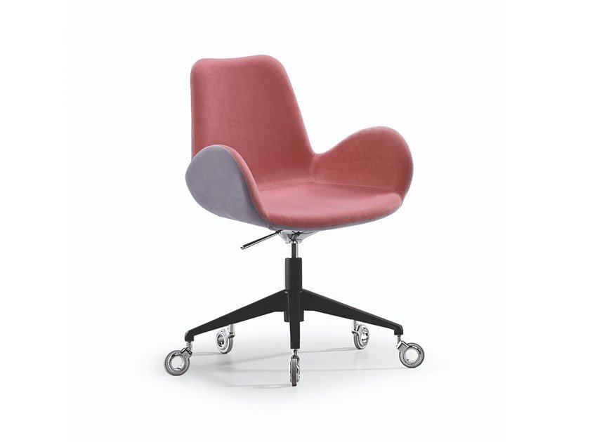 Swivel fabric task chair with 5-Spoke base with casters DALIA PB D by Midj