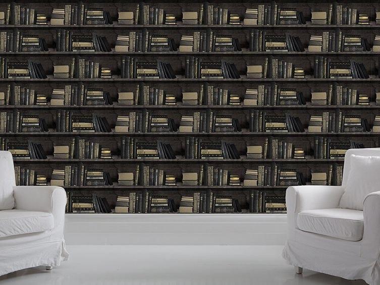 Wallpaper DARK BOOKCASE by Mineheart