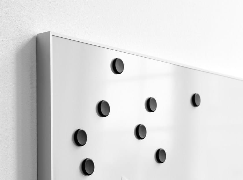 Wall-mounted office whiteboard Deep Whiteboard by Lintex