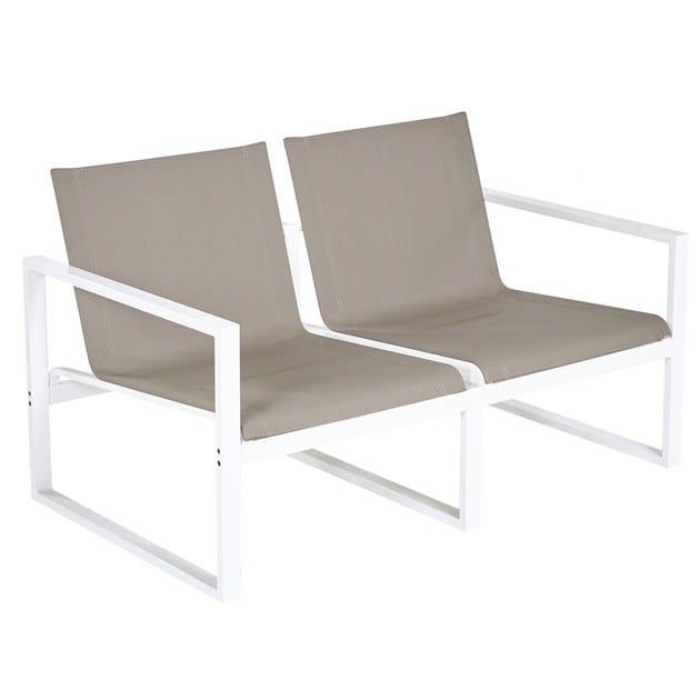 2 seater aluminium sofa Divano a 2 posti Loto by Mediterraneo by GPB