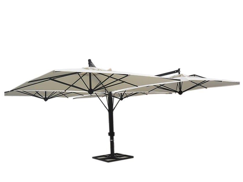 Double aluminium Garden umbrella Double Garden umbrella by Il Giardino di Legno