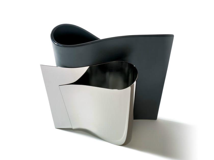 Stainless steel vase E-LI-LI by Alessi