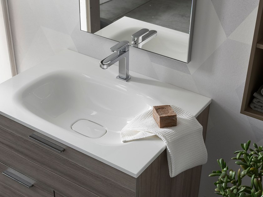 Sectional floor-standing vanity unit E.LY INCLINATO - COMPOSITION 83 by Arcom