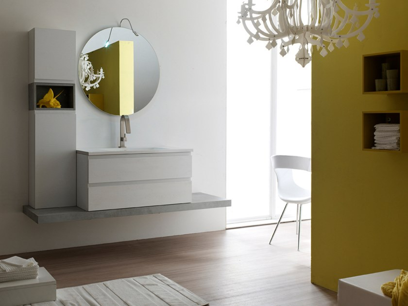 Sectional single suspended bathroom cabinet E.LY J - COMPOSITION 36 by Arcom