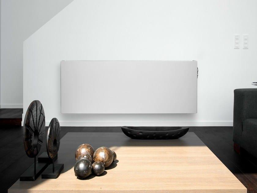 Electric horizontal steel decorative radiator E- PANEL   Horizontal decorative radiator by VASCO