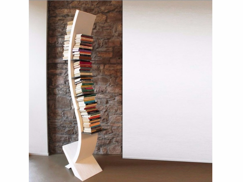 Freestanding laminated wood bookcase E.SE by ARKOF LABODESIGN