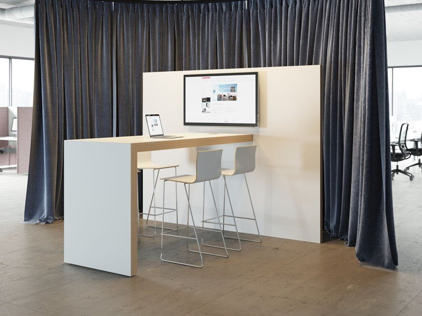 Multimedia meeting table E-WALL by FURNIKO