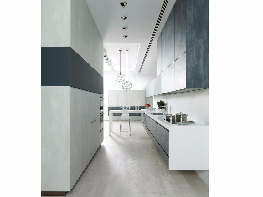 Laminate kitchen with cement finish E2.70 / E3.00 by Gamadecor