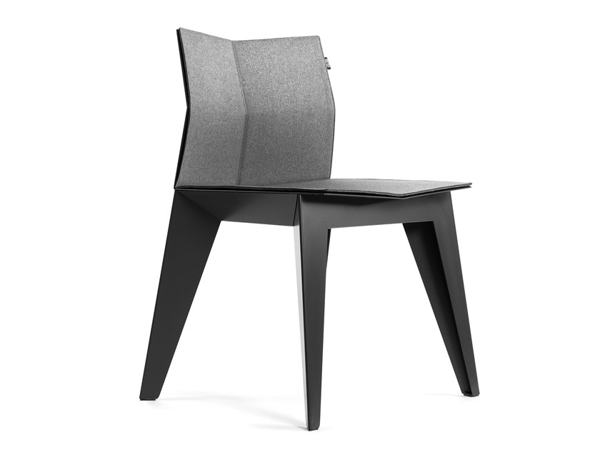 Felt and steel chair E2 by ODESD2