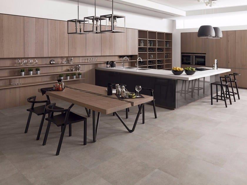 Cucina componibile in legno e vetro E7.60 /  E3.60 by Gamadecor