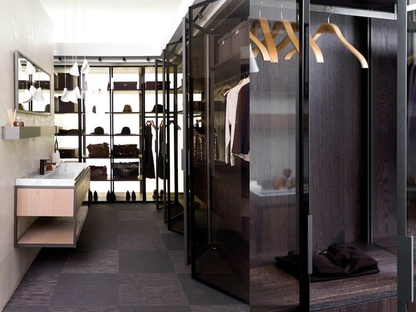 Cabina Armadio Moderna Zip : Cabina armadio in legno e vetro teca night by former design