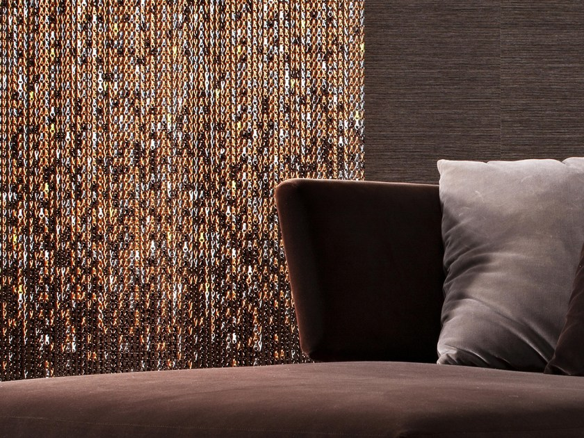 Aluminium chain curtain EARTH by Kriskadecor