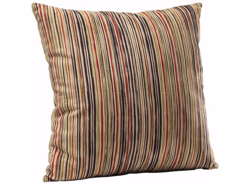 Square polyester cushion EARTH STRIPES by KARE-DESIGN
