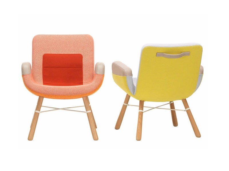 Fabric armchair with armrests EAST RIVER CHAIR by Vitra