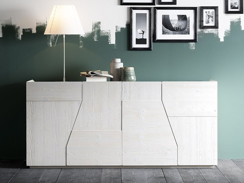 Contemporary style spruce sideboard with doors EASY | Sideboard by AltaCorte