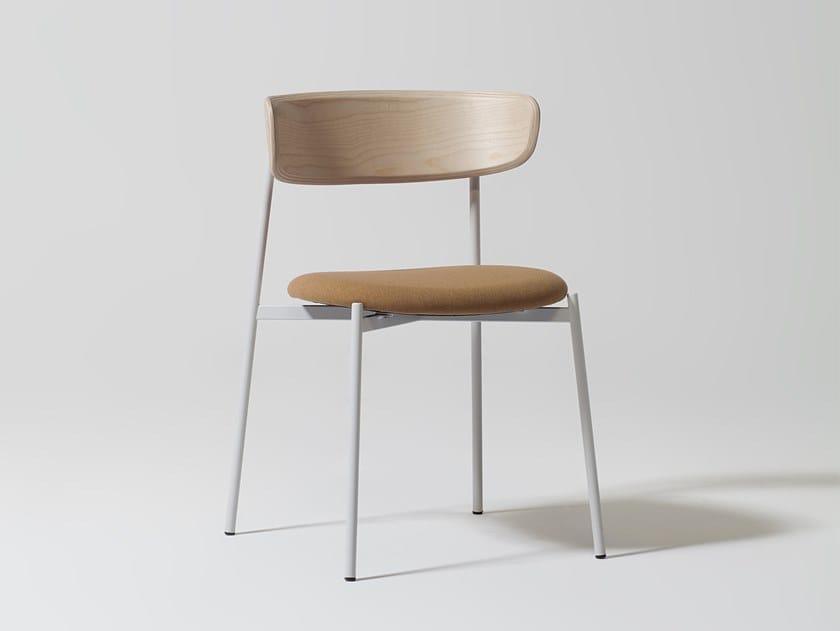 Sedia con seduta imbottita e schienale in multistrato EASY CHAIR by Manerba
