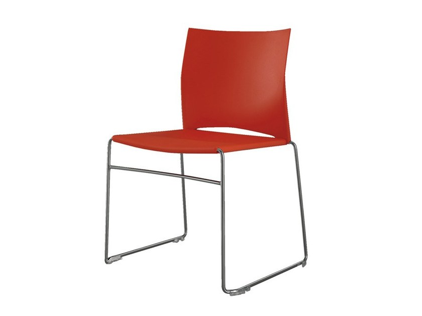 Stackable polypropylene chair EASY by Cattelan Italia