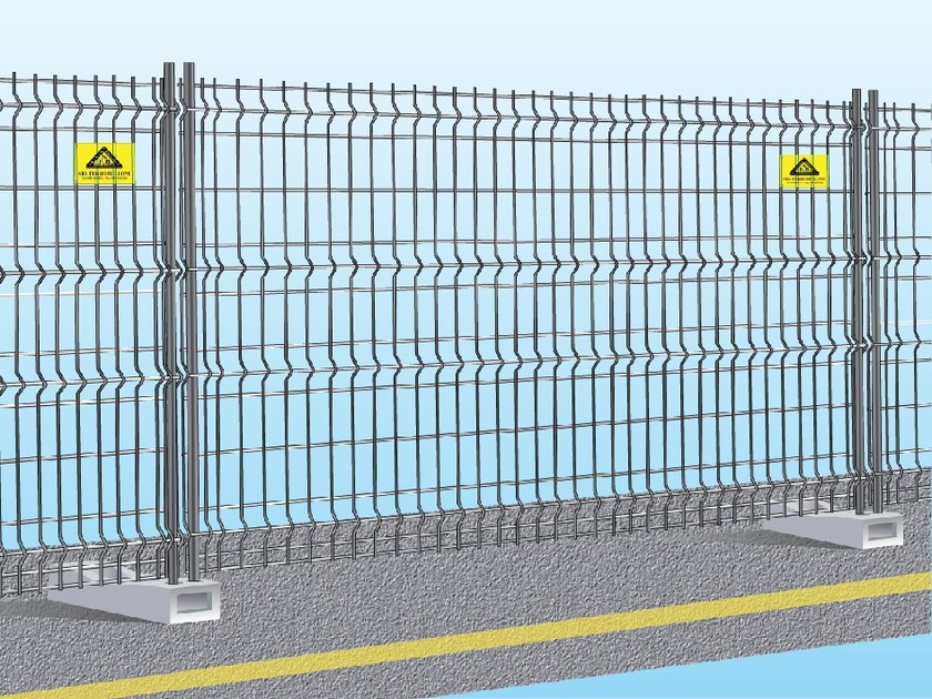 Construction site temporary and mobile fencing EASY FIX by Ferro Bulloni