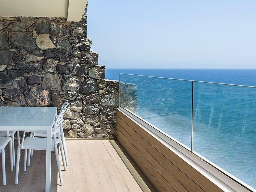 Glass Window railing EASY GLASS® UP by Q-RAILING ITALIA
