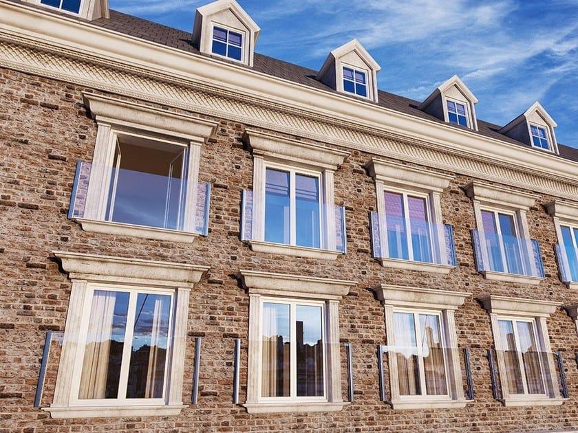 Glass and aluminium balustrade EASY GLASS® VIEW by Q-RAILING ITALIA