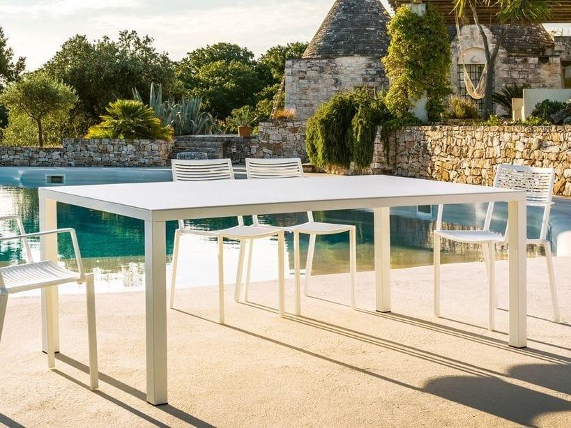 Rectangular aluminium garden table EASY   Rectangular table by FAST