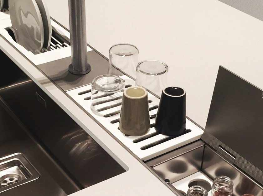 Kitchen equipped track EASYRACK KITCHEN FLAT | Drip module by DOMUSOMNIA