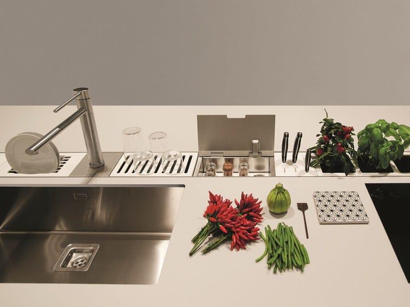 Canale attrezzato per cucina EASYRACK KITCHEN FLAT | Canale attrezzato per cucina by DOMUSOMNIA
