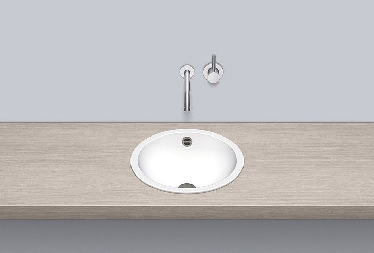 Built-in basin from glazed steel EB.K400 by Alape