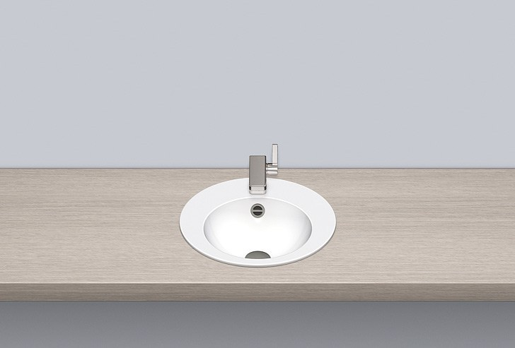 Built-in basin from glazed steel EB.K400H by Alape