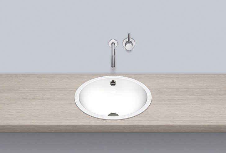 Built-in basin from glazed steel EB.K450 by Alape