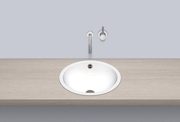 Lavabo da incasso soprapiano rotondo singolo in metallo in stile moderno EB.K450 by Alape