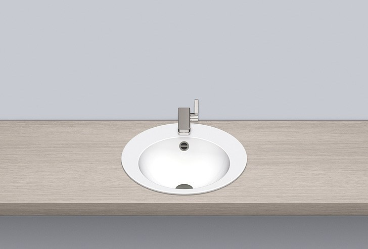 Built-in basin from glazed steel EB.K450H by Alape