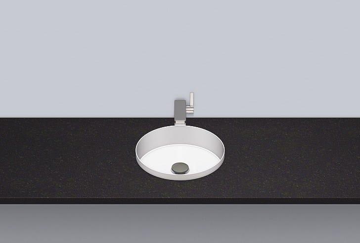 Built-in basin from glazed steel EB.KE325 by Alape
