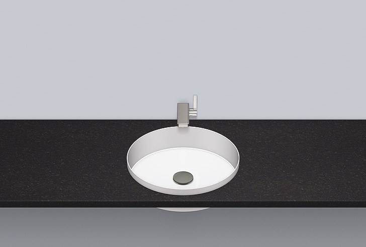 Lavabo da incasso in acciaio vetrificato EB.KE400 by Alape