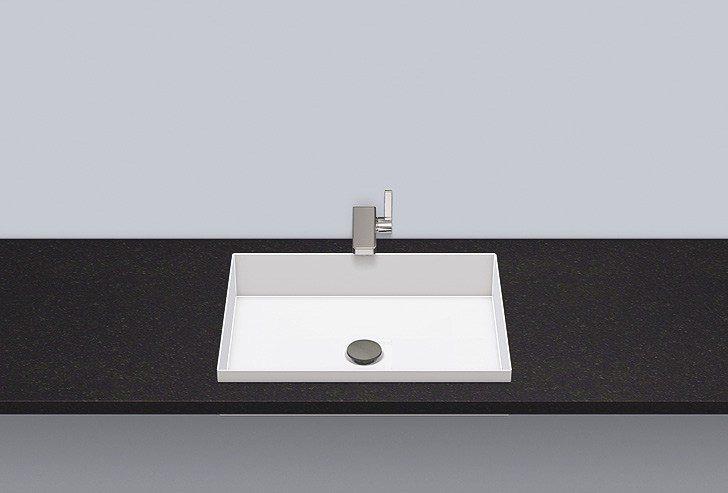 Built-in basin from glazed steel EB.ME500 by Alape