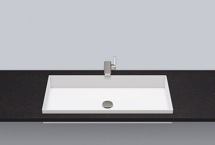 Built-in basin from glazed steel EB.ME750 by Alape
