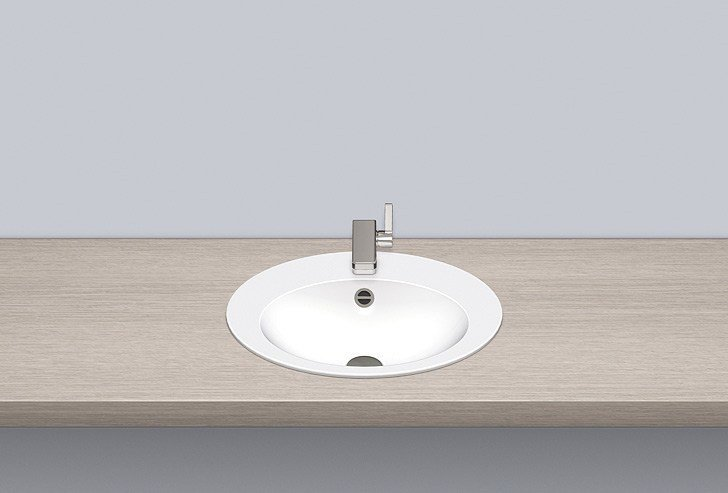 Built-in basin from glazed steel EB.O500H by Alape
