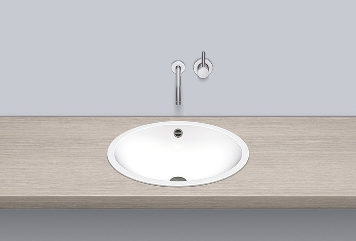 Built-in basin from glazed steel EB.O525 by Alape