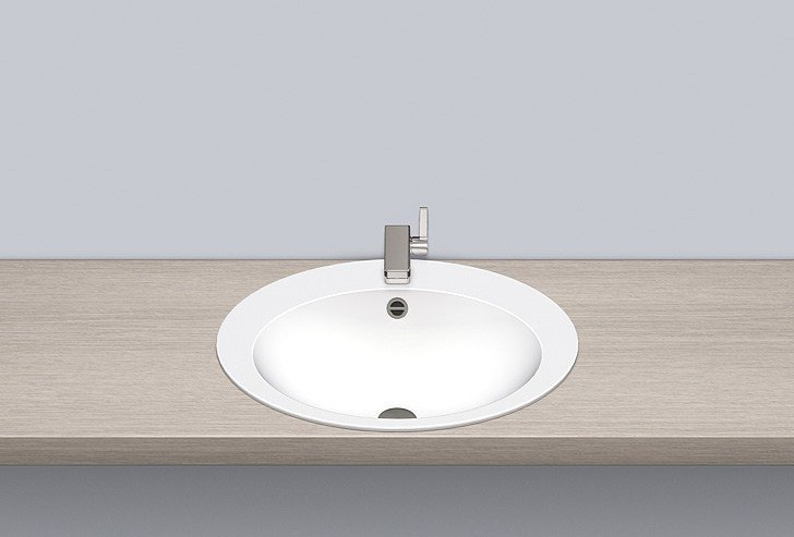 Built-in basin from glazed steel EB.O600H by Alape