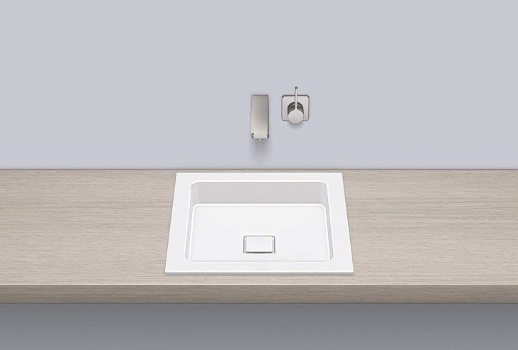 Built-in basin from glazed steel EB.Q450 by Alape